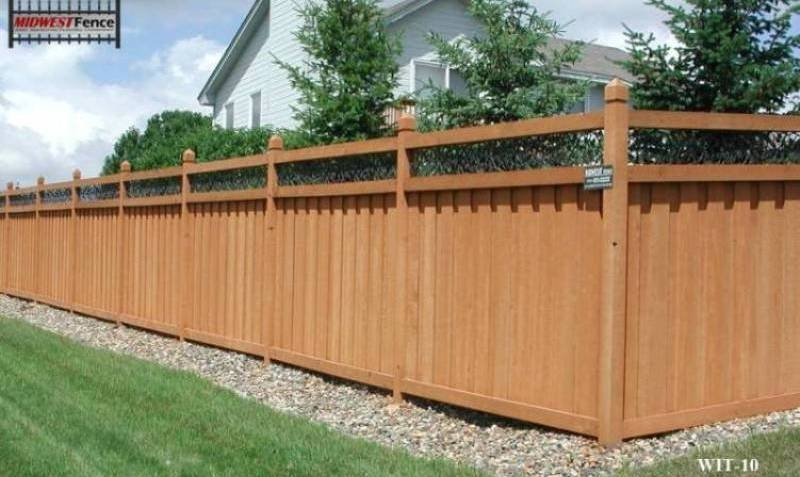 ivy topped wood privacy fences midwest fence