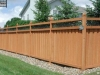 Ivy Topped Wood Privacy Fence