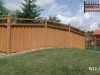 Contoured Ivy Topped Privacy Fence