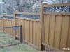 Ivy Topped Privacy Fence With Metal Bottom