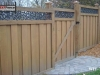 Ivy Topped Privacy Fence With Gate