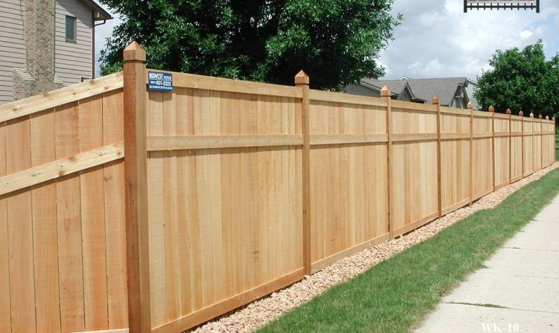 King Style Wood Private Fence