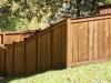 King Style Wood Contoured Fence