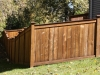 King Style Wood Privacy Fence Follows Contours In Yard