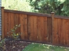 Sloped King Style Wood Privacy Fence