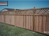 Lattice Top Cedar Privacy Fence