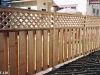 Cedar Wood Privacy Fence With Lattice Top