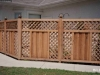 Contoured Lattice Top Wood Privacy Fence