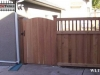 Lattice Top Privacy Fence With Gate