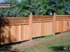 Sloped Lattice Top Wood Fence