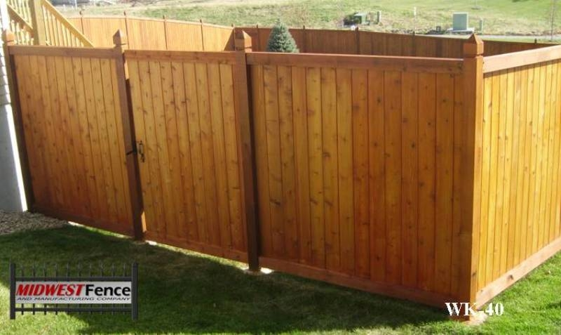 Tongue And Groove Wood Privacy Fences Midwest Fence