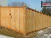 Sloped Tongue and Groove Wood Fence