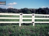 3 Rail PVC Fence With Gate