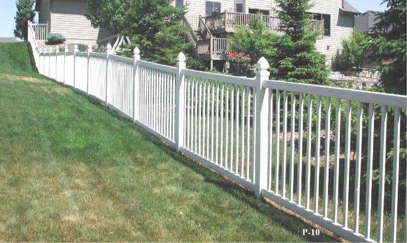 Picket style pvc fences midwest fence