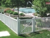 Vinyl Picket Fence With Gate