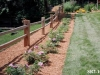 Rustic Posts And Rail Fence