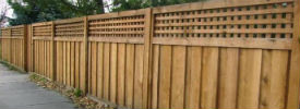 Lattice Top Wood Private Fence