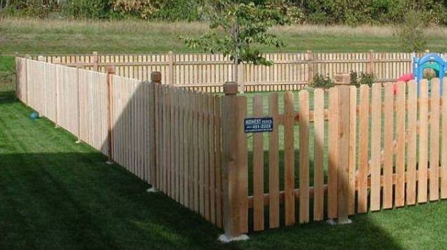 Pros Cons Cedar Privacy Picket Wood Fence Midwest Fence