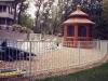 2 Rail Ornamental Iron Fence Durable