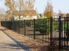 3 Rail Ornamental Iron Fence Durable