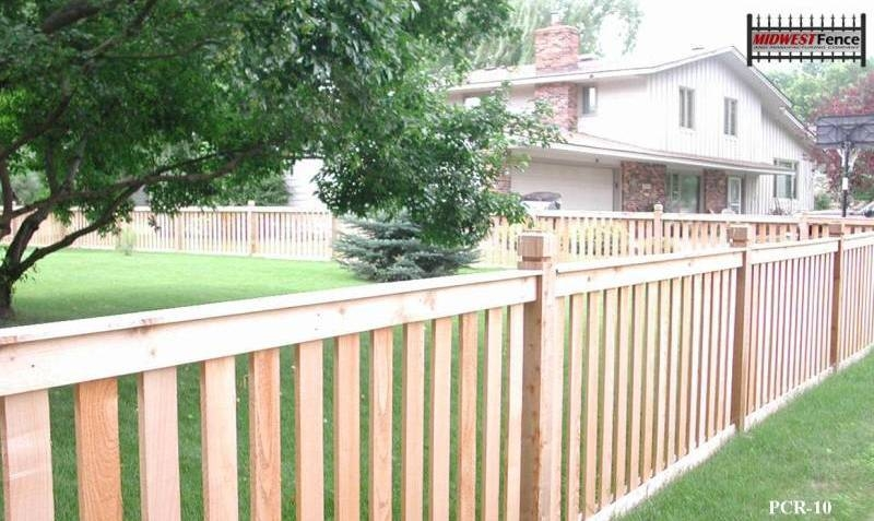 Capped Rail Wood Picket Fences Midwest Fence