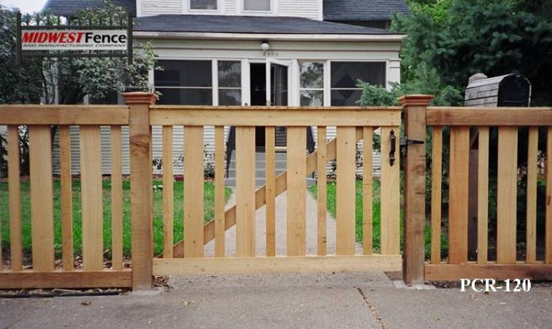 Capped Rail Wood Picket Fences