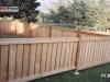 Capped Rail Cedar Picket Fence