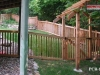 Capped Rail Cedar Picket Fence and Gate and Arbor