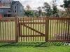 Capped Rail Cedar Picket Fence With Custom Gate