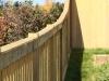 Curved Cedar Rail Picket Fence