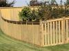 Curved Rail Cedar PIcket Fence