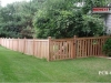 Capped Rail Cedar Picket Fence with Gate