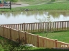 Capped Rail Picket Cedar Fence with Post Caps