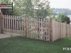Cedar Picket Fence with Topped Posts