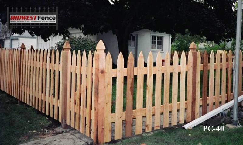 Colonial Wood Picket Fences Midwest Fence