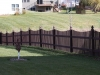 Cedar Picket Fence With French Caps