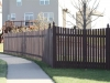 Flat Topped Cedar Rail Picket Fence