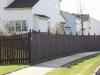 Flat Topped Cedar Picket Fence