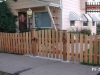 Flat Topped Cedar Picket Fence With Gate