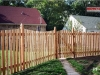Flat Topped Cedar Fence With Gate