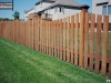 Flat Topped Cedar Picket Fence With Island Caps