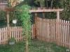 Flat Topped Cedar Picket Fence With Gazebo