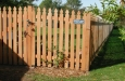 3French Gothic Style Cedar Picket Fence and Gate