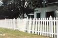 White French Gothic Picket Fence