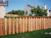 Alternating Traditional and Flat Topped Cedar Picket