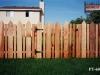 Alternating Board Cedar Picket Fence