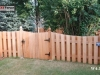 4 Foot High Alternating Board Cedar Privacy Fence and Gate
