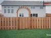 4 Foot High Alternating Board Cedar Privacy Fence and Arbor