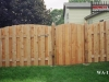 Alternating Flat Topped Board Privacy Fence