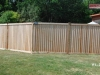 Louvered Cedar Fence with Caps